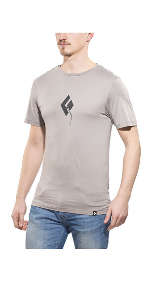 Black Diamond Placement t-shirt grijs
